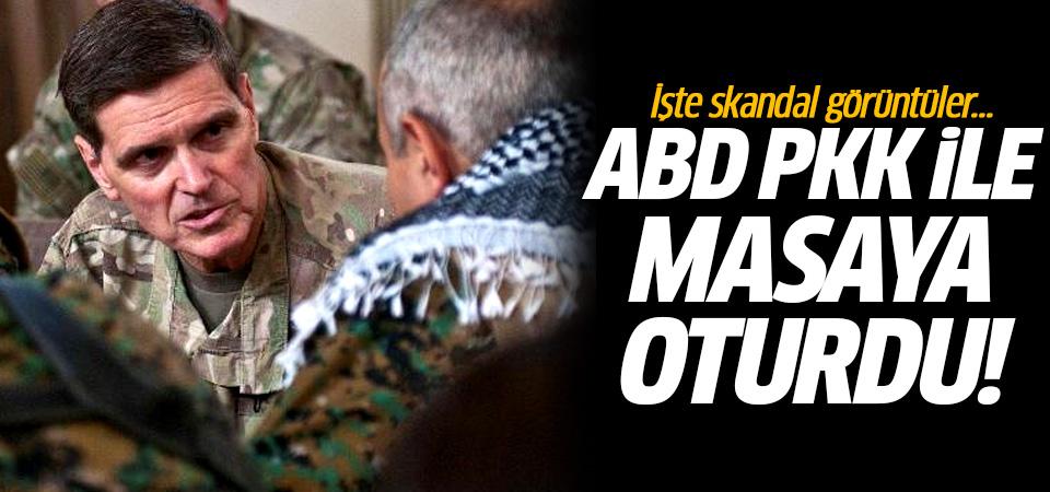 ABD PKK ile masaya oturdu! İşte skandal görüntüler