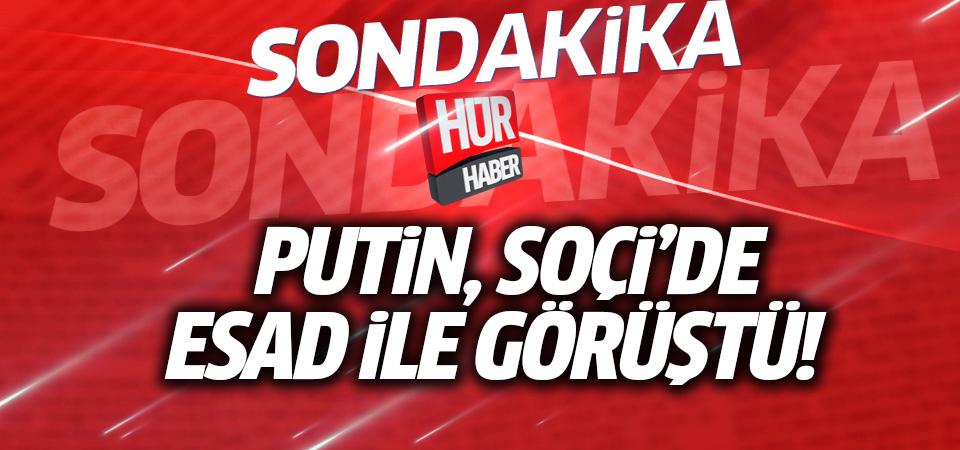 Putin Soçi'de Esad ile görüştü