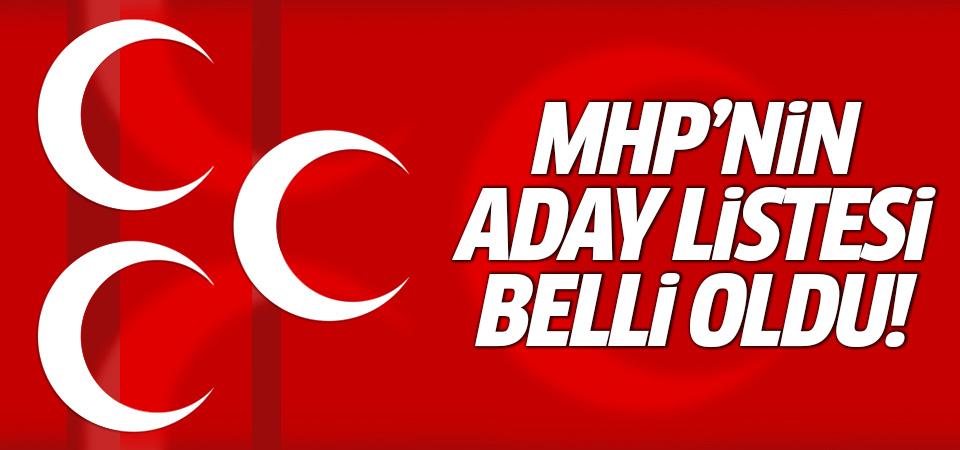 MHP'nin aday listesi belli oldu