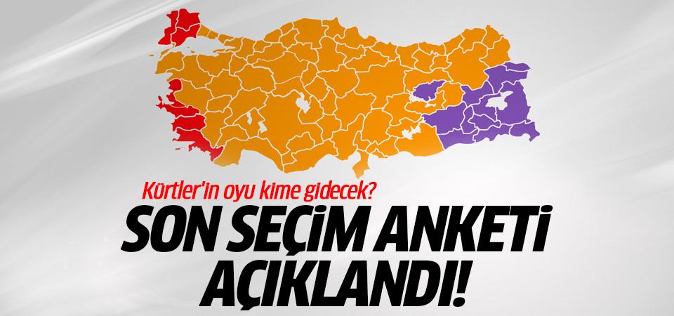 Kürtler kime oy verecek? Son seçim anketi açıklandı
