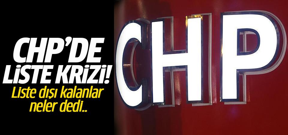 CHP'de liste krizi!