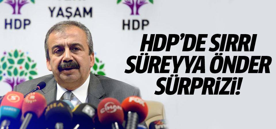 HDP'de Sırrı Süreyya Önder sürprizi!