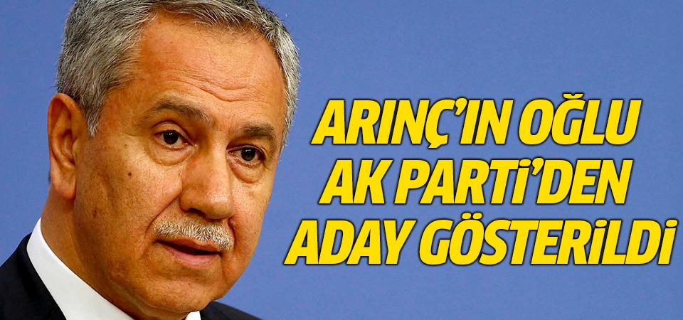 Arınç'ın oğlu Ak Parti'den aday gösterildi