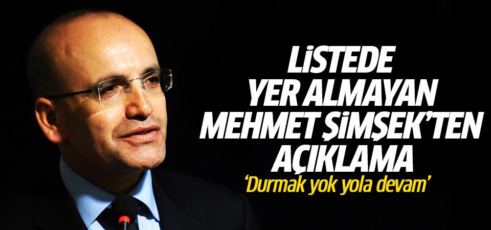 Listede yer almayan Mehmet Şimşek'ten açıklama