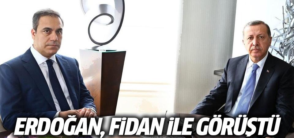 Erdoğan, Fidan ile görüştü