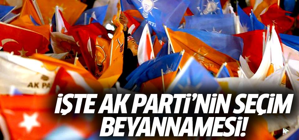 AK Parti seçim beyannamesi açıklanıyor