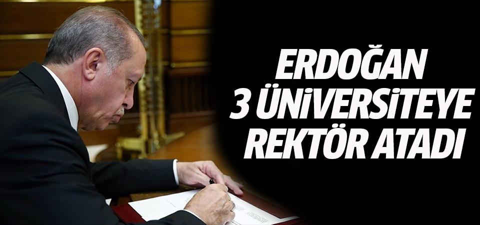 Erdoğan 3 üniversiteye rektör atadı