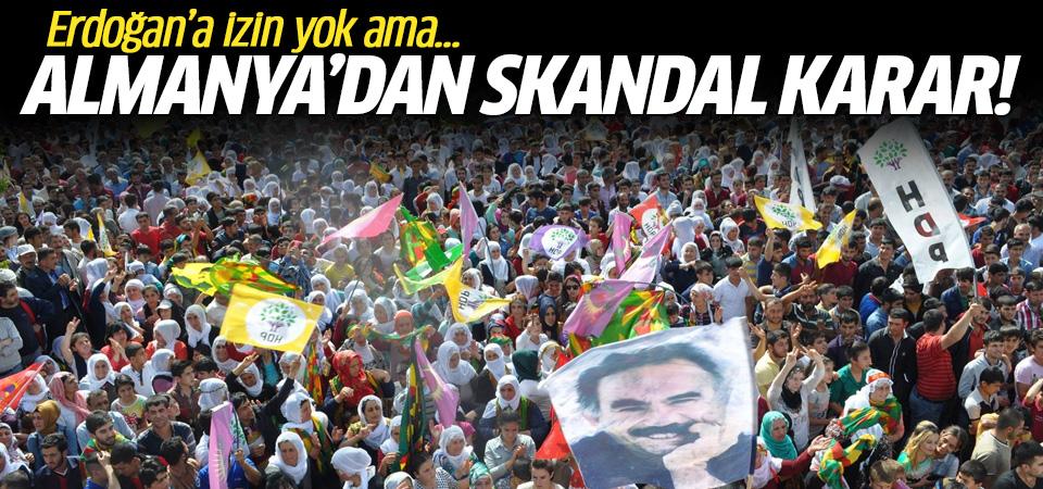 Almanya'dan skandal karar! Erdoğan'a izin yok ama...