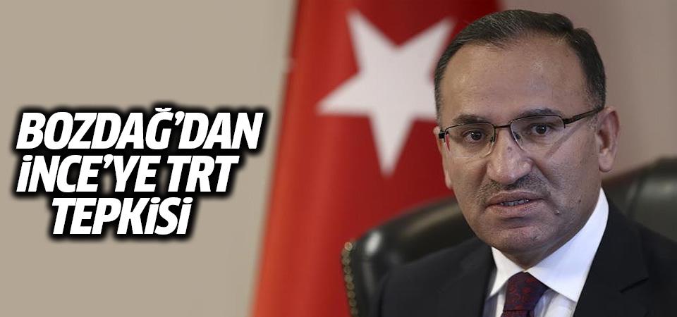 Bozdağ'dan, İnce'ye TRT tepkisi