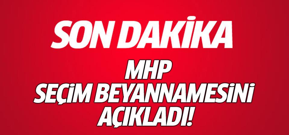MHP seçim beyannamesini açıkladı!
