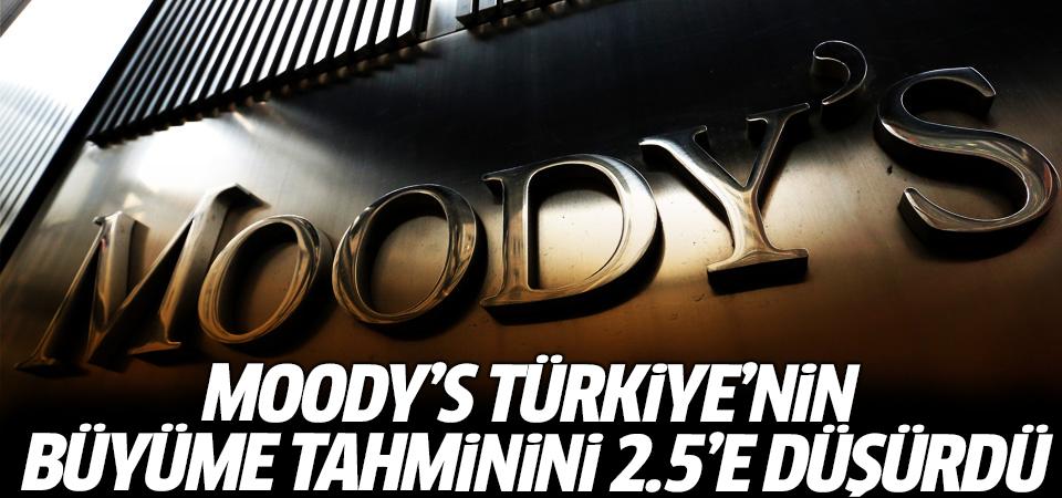 Moody's Türkiye'nin büyüme tahminini 2.5'e düşürdü