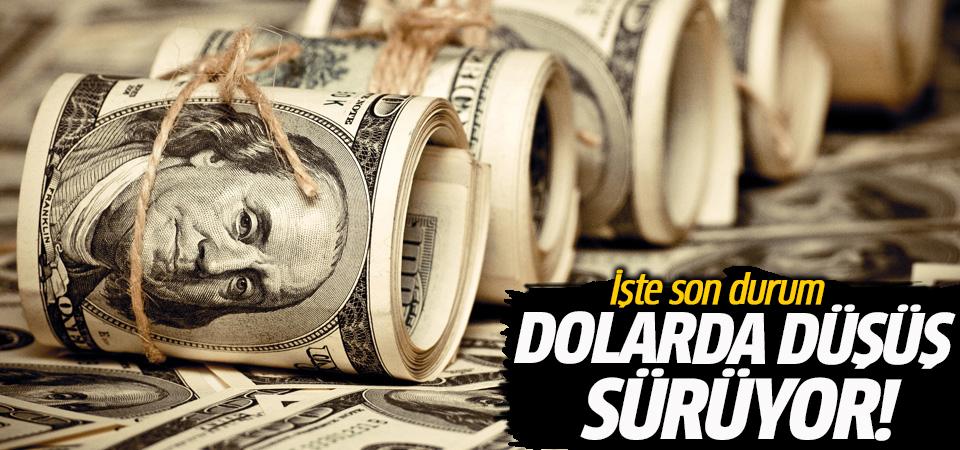 Dolarda düşüş sürüyor! İşte son durum