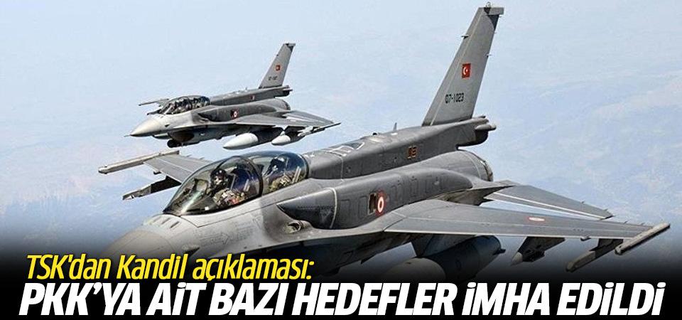 TSK'dan Kandil açıklaması: PKK'ya ait bazı hedefler imha edildi