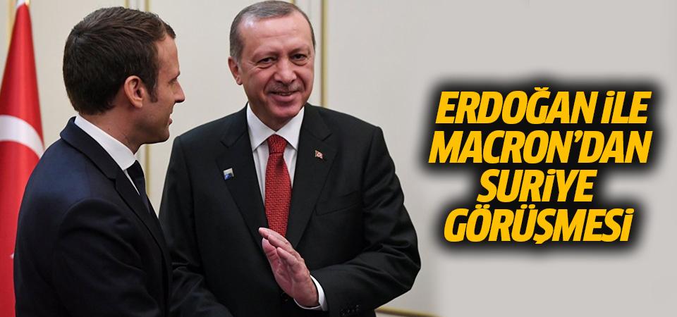 Erdoğan ile Macron'dan Suriye görüşmesi