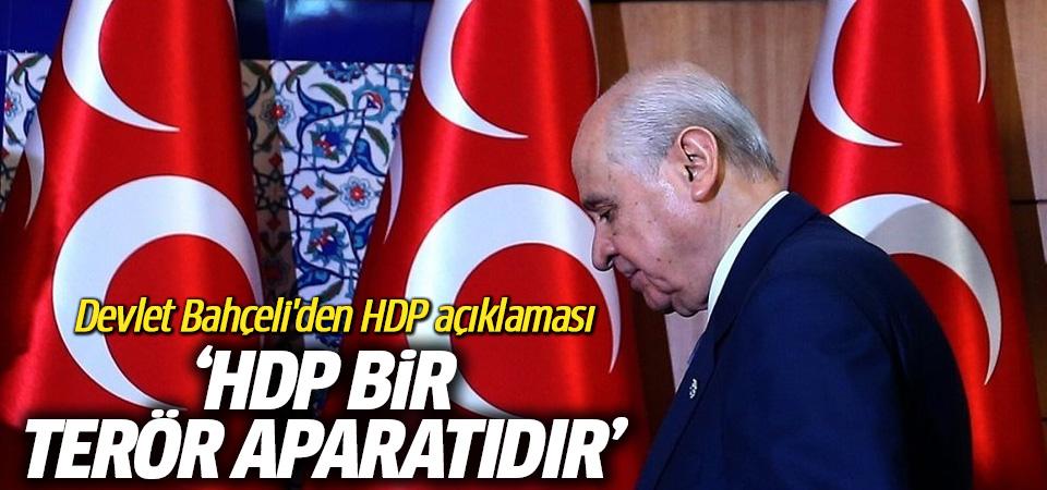 Bahçeli: HDP, bir terör aparatıdır, cumhurbaşkanı adayı ise hilkat garibesidir