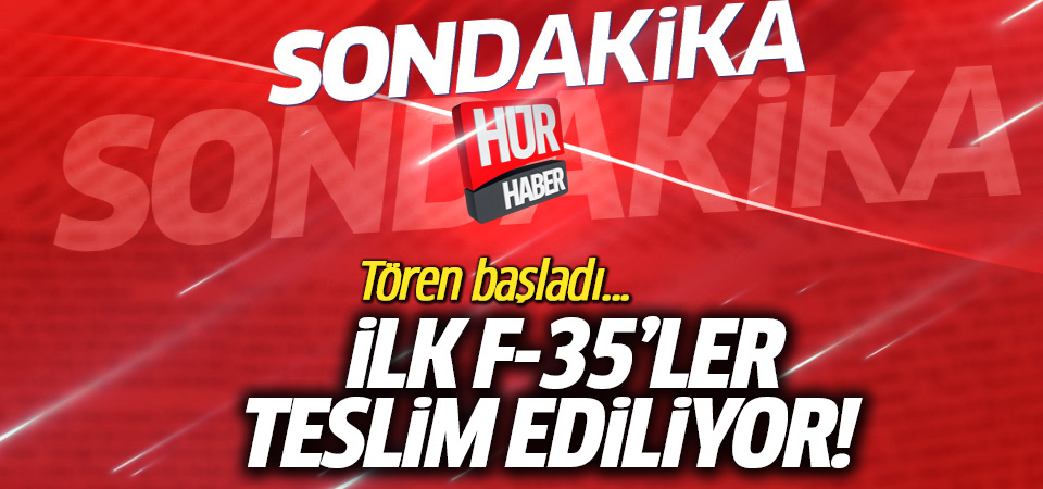 Türkiye, ilk F-35 uçağını ABD'de düzenlenen törenle teslim aldı
