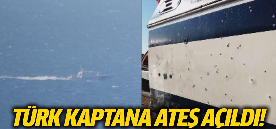 Bodrum açıklarında Türk kaptana ateş açıldı