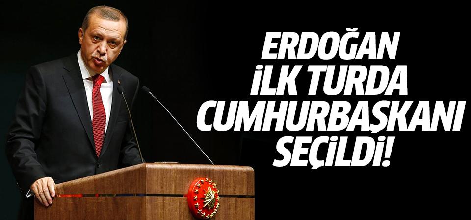 Erdoğan ilk turda Cumhurbaşkanı seçildi!