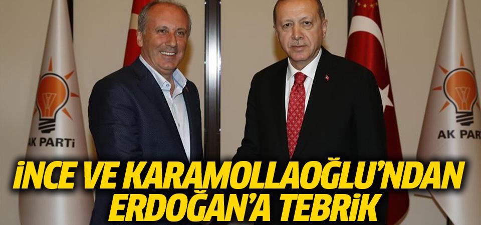 İnce ve Karamollaoğlu'ndan Erdoğan'a tebrik