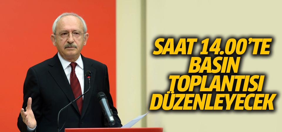 Kılıçdaroğlu saat 14:00'te basın toplantısı düzenleyecek