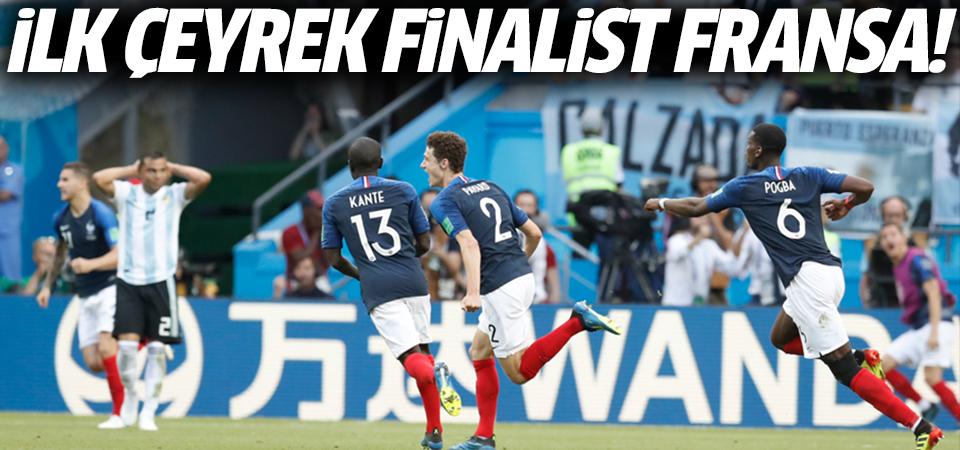 Dünya Kupasında ilk çeyrek finalist Fransa oldu