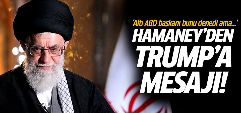 Hamaney'den Trump'a mesaj: Bölemezsin!