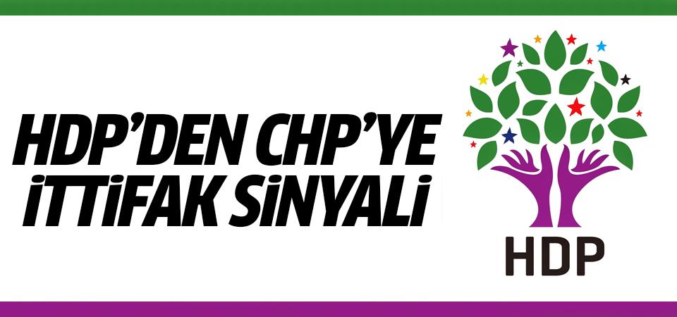 HDP'den CHP'ye ittifak sinyali