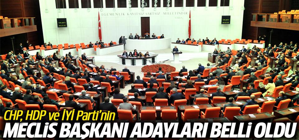CHP, HDP ve İYİ Parti'nin Meclis Başkanı adayları belli oldu