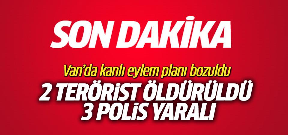 Van'da, eylem için gelen 2 terörist öldürüldü