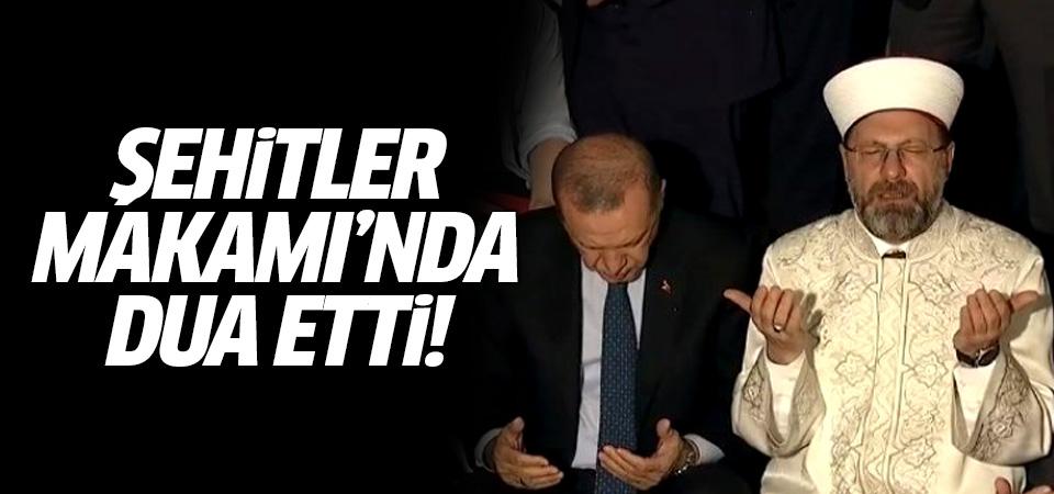 Erdoğan, Şehitler Makamı'nda dua etti
