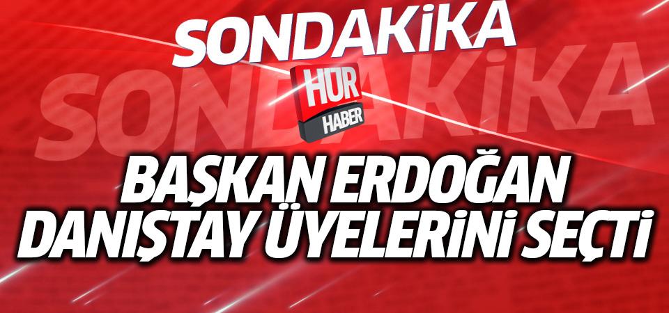 Başkan Erdoğan Danıştay üyelerini seçti