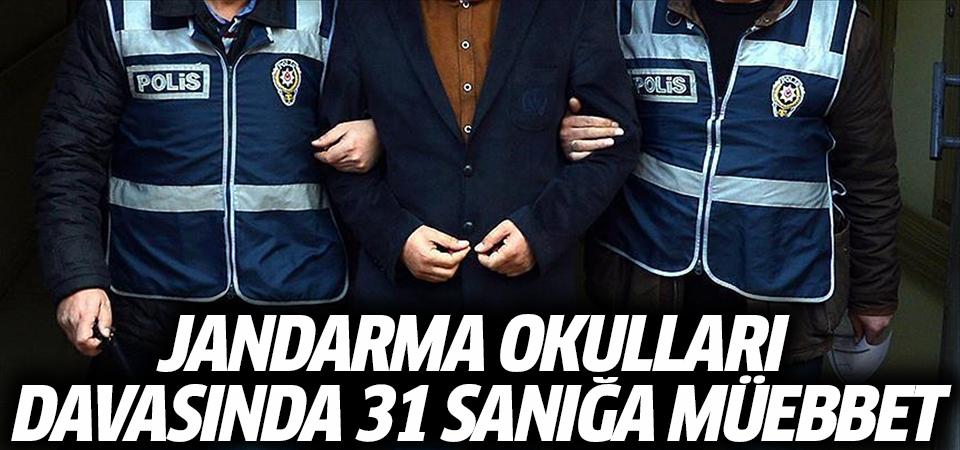 Jandarma okulları davasında 31 sanığa müebbet