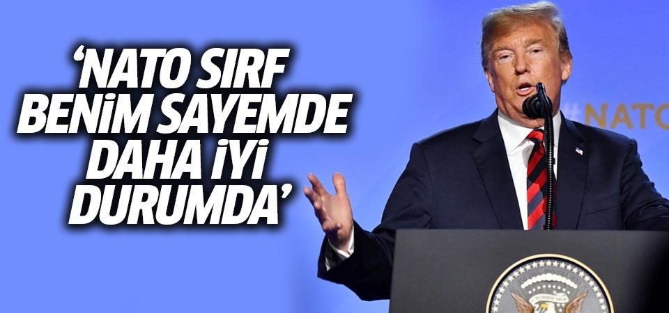 Trump: NATO sırf benim sayemde daha iyi durumda