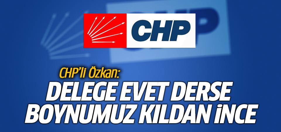 CHP'li Özkan: Delege evet derse boynumuz kıldan ince