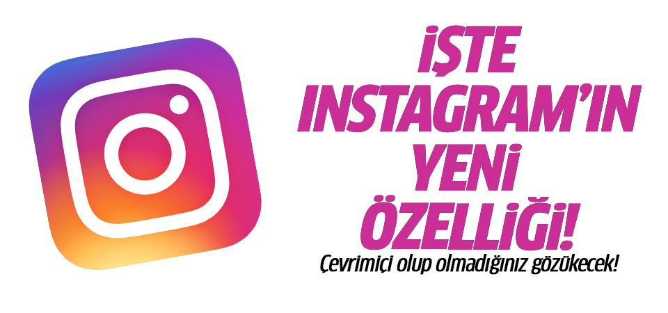 İşte Instagram'ın yeni özelliği: Çevrimiçi olup olmadığınız gözükecek!
