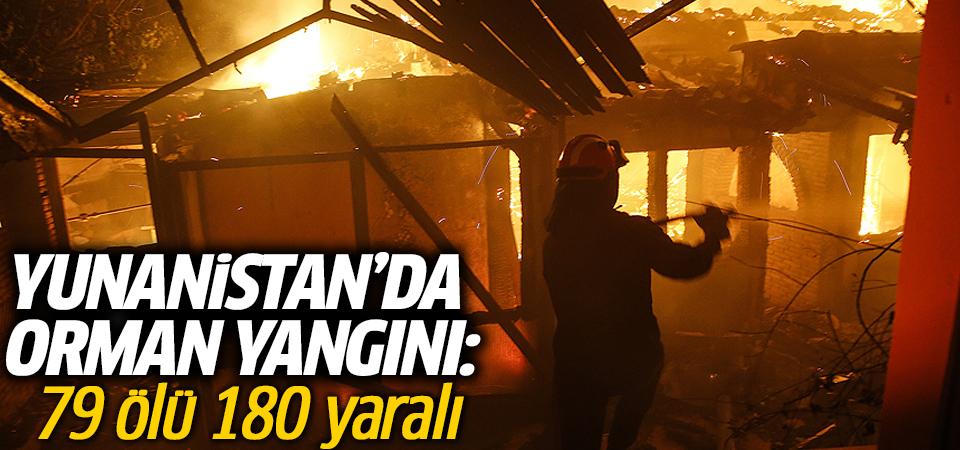 Yunanistan'da orman yangını: 79 ölü 180 yaralı