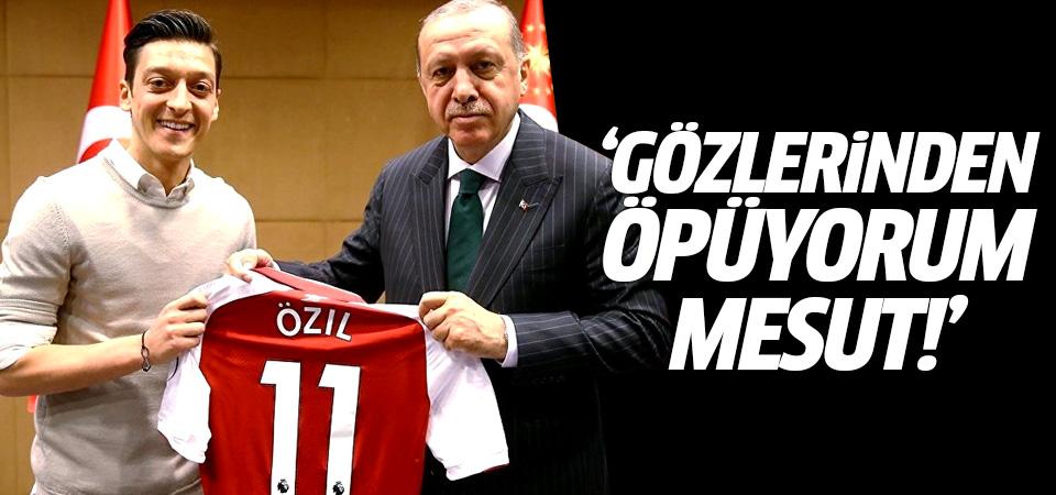 Başkan Erdoğan'dan Mesut Özil mesajı!