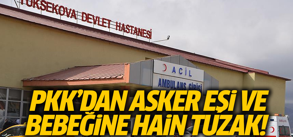 PKK'lı teröristlerden asker eşi ve bebeğine bombalı saldırı