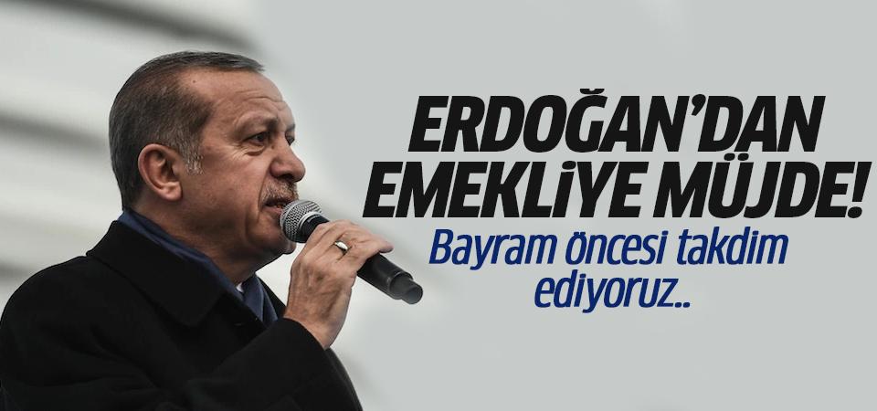 Erdoğan'dan emekliye müjde! Bayram öncesi takdim ediyoruz..