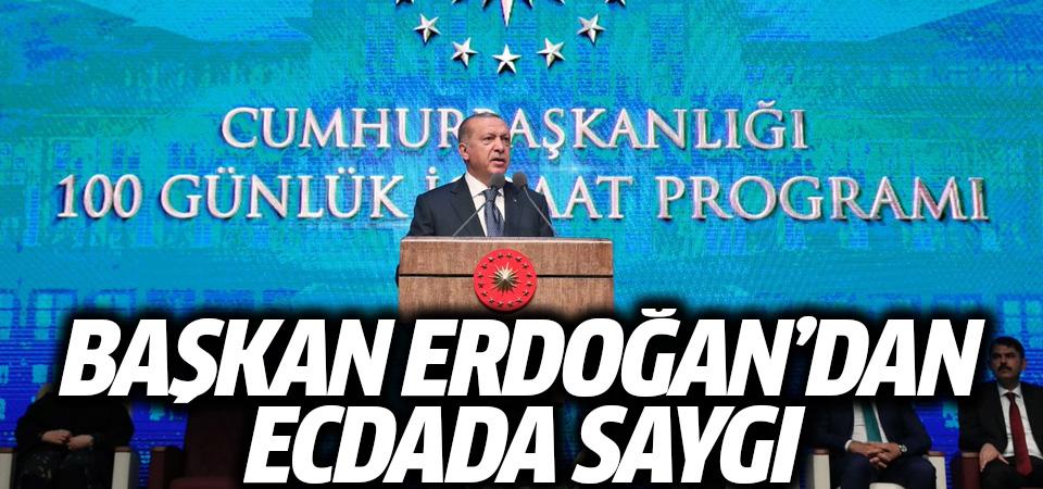 Başkan Erdoğan'dan ecdada saygı