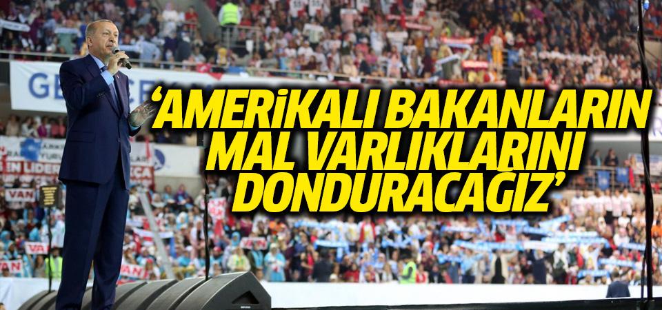 Erdoğan: ABD Adalet ve İçişleri Bakanlarının mal varlıkları dondurulacak