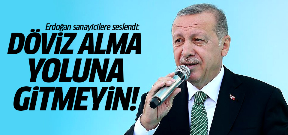 Başkan Erdoğan: Döviz alma yoluna gitmeyin