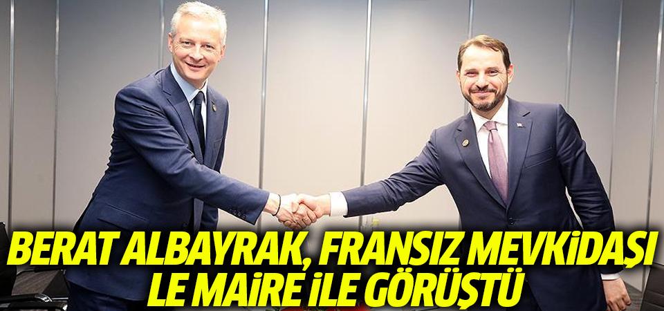 Berat Albayrak, Fransız mevkidaşı Le Maire ile görüştü