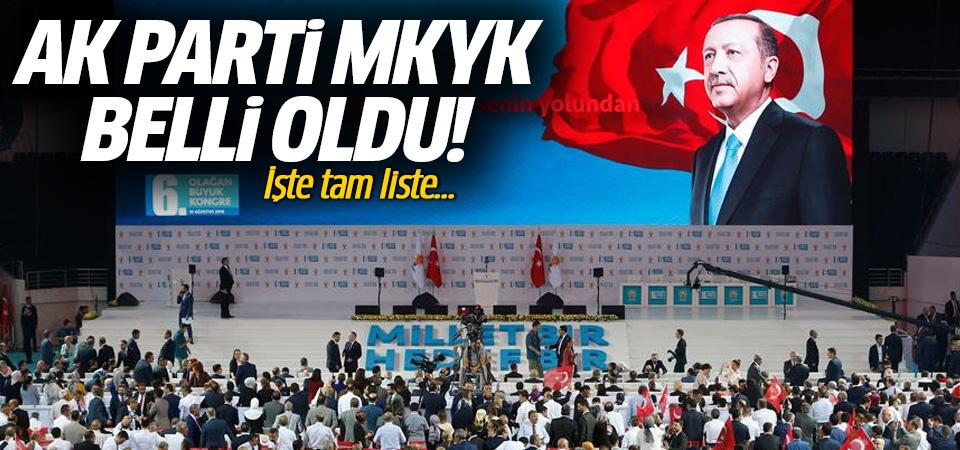 AK Parti MKYK belli oldu: İşte tam liste!