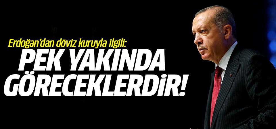 Erdoğan döviz kuruyla ilgili: Pek yakında göreceklerdir!