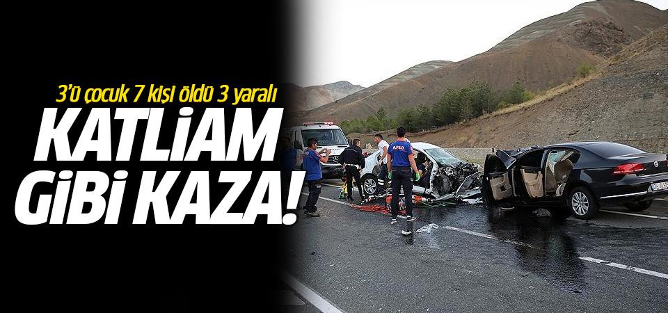 Katliam gibi kaza! 3'ü çocuk 7 kişi öldü 3 yaralı