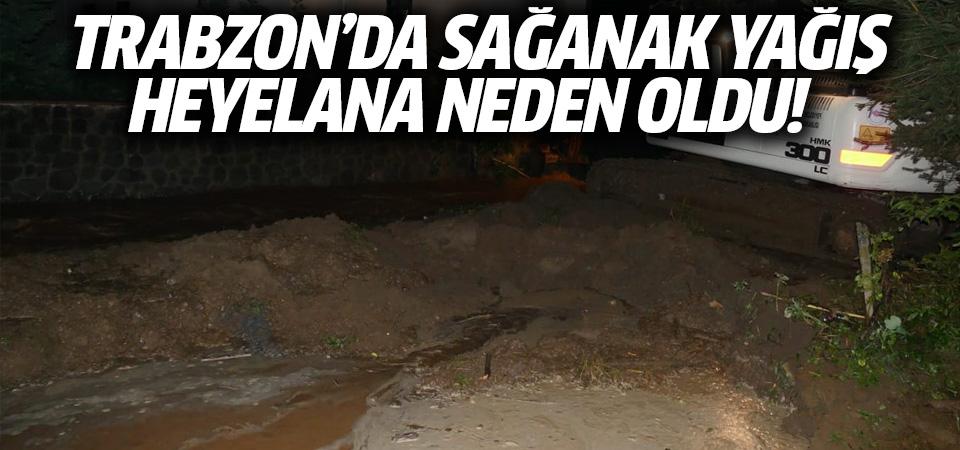 Trabzon'da sağanak yağış heyelana neden oldu