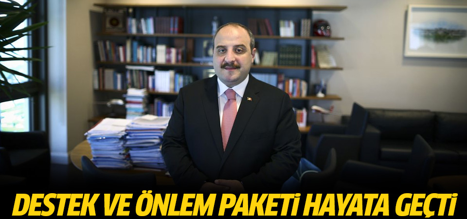 Bakan Varank: Destek ve Önlem Paketi'nin sıkı takipçisi olduk