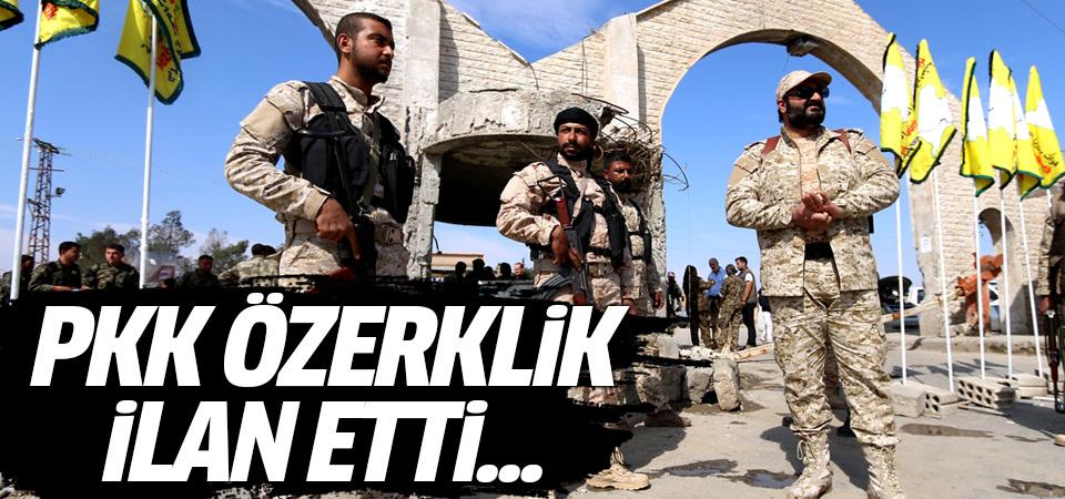PKK Suriye'de özerklik ilan etti...