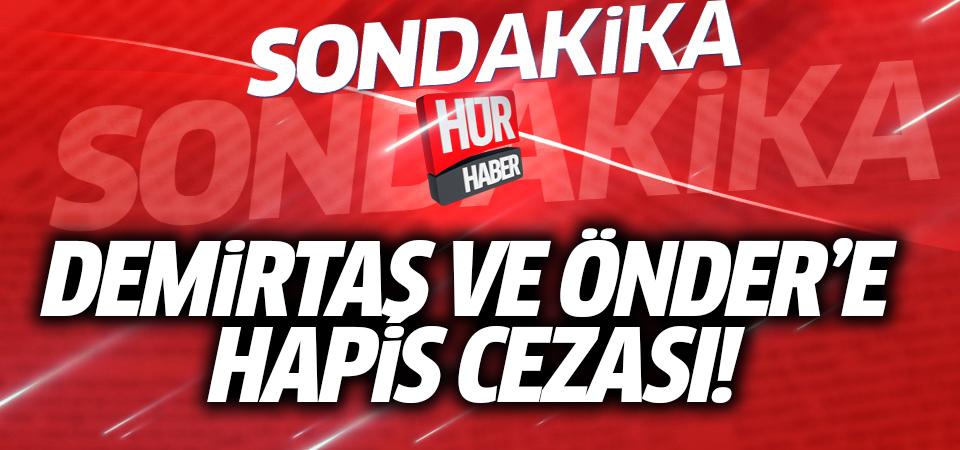 Demirtaş ve Önder'e hapis cezası!